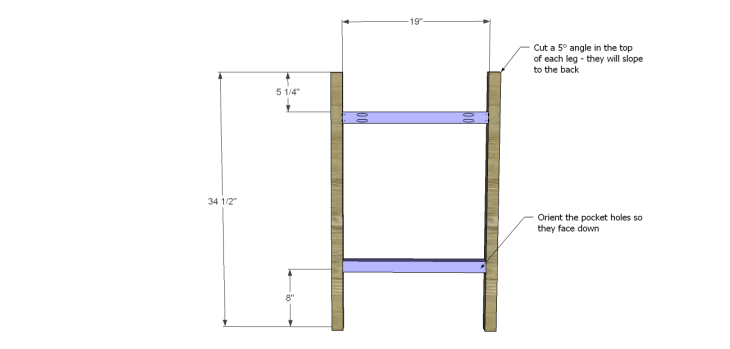 Plans to Build a Barstool with Arms_Front Leg Frame