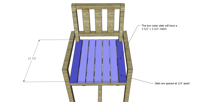 Plans to Build a Barstool with Arms_Slats