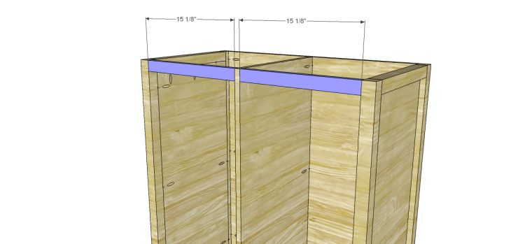 Allie Armoire Cabinet Plans-Front Stretchers