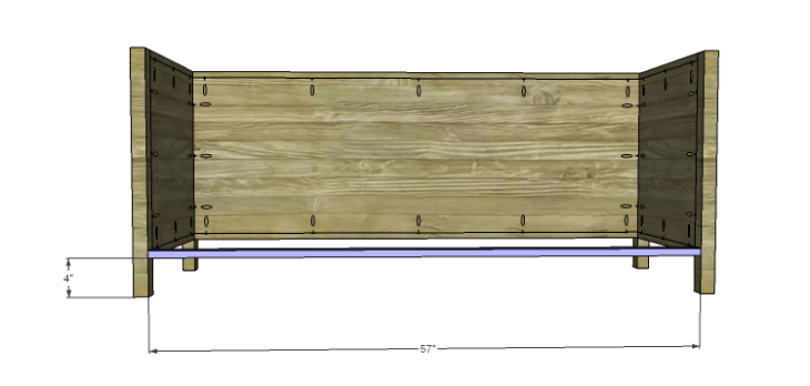 DIY Plans to Build the Haiku Cabinet-Lower Front Stretcher
