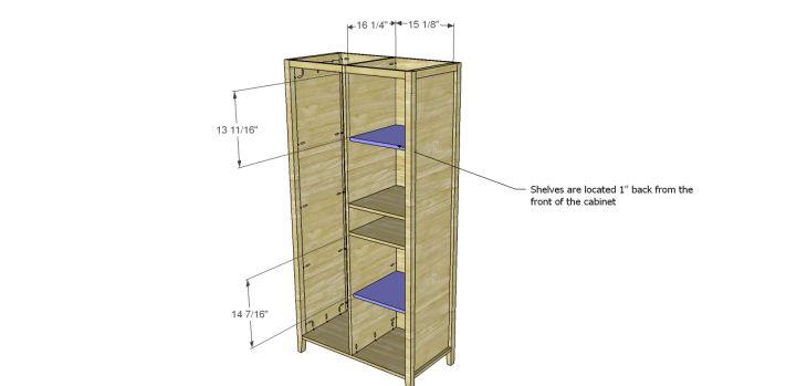 Allie Armoire Cabinet Plans-Shelves 1