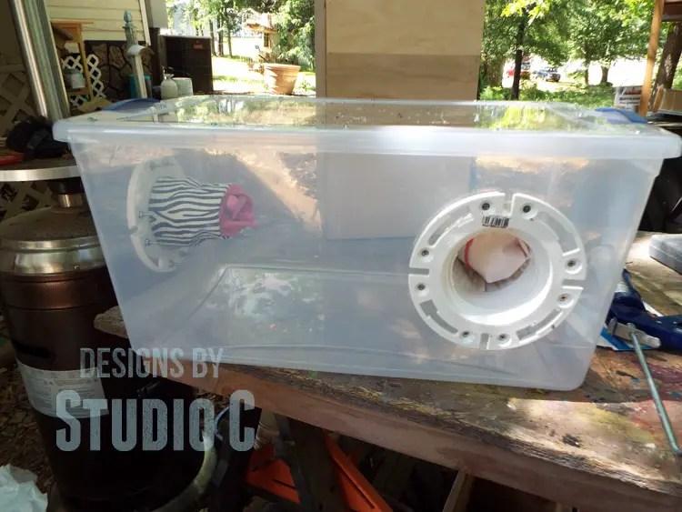 make a small sandblasting cabinet for the air eraser. Black Bedroom Furniture Sets. Home Design Ideas