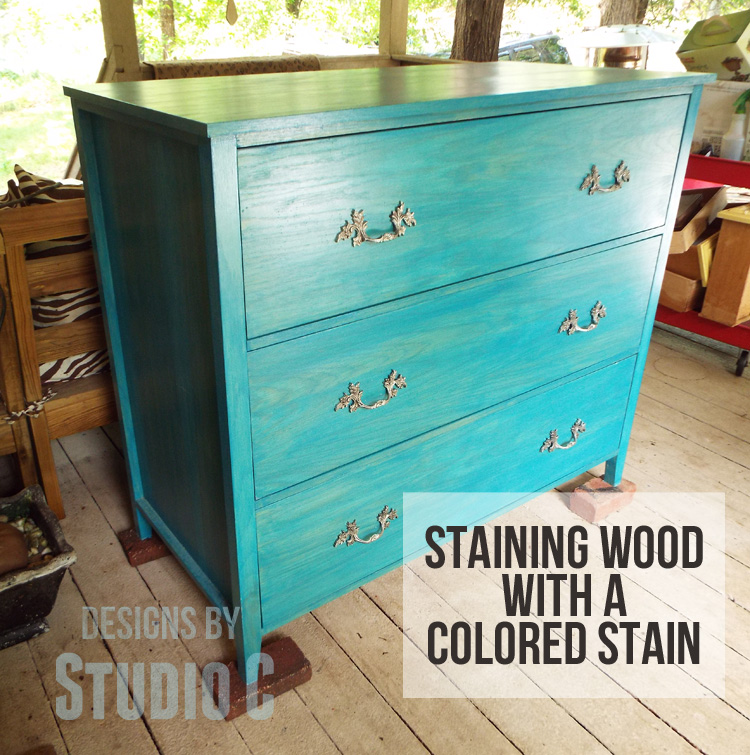 Staining A Project Try A Colored Stain Designs By Studio C