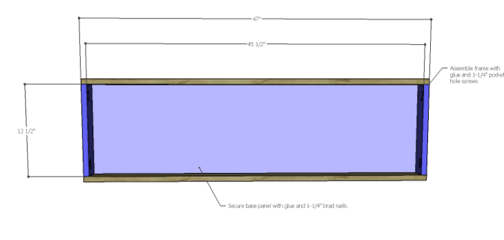 Plans to Build an Open Shelving Bookcase-Base