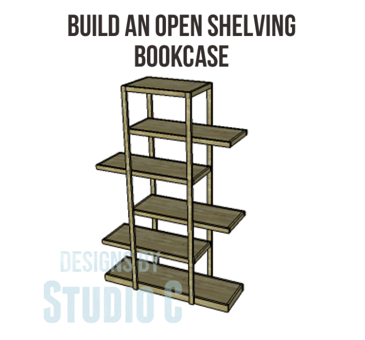 Plans to Build an Open Shelving Bookcase-Copy