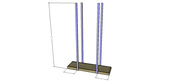 Plans to Build an Open Shelving Bookcase-Legs