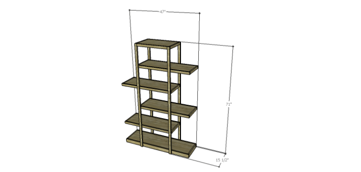 Plans to Build an Open Shelving Bookcase