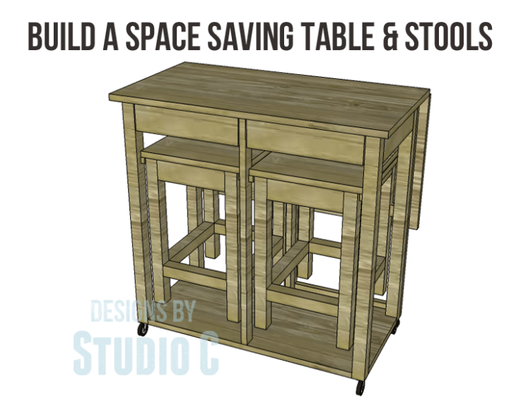 Plans to Build a Space Saving Table and Stools-Copy