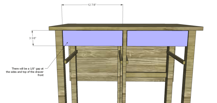 Plans to Build a Space Saving Table and Stools-Drawer Fronts
