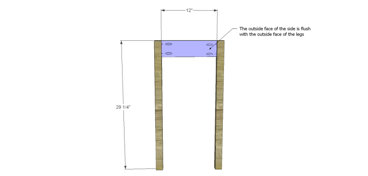 Plans to Build a Space Saving Table and Stools-Sides