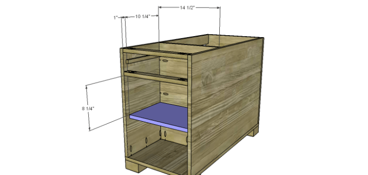 Hartford End Table Plans-Small Shelf