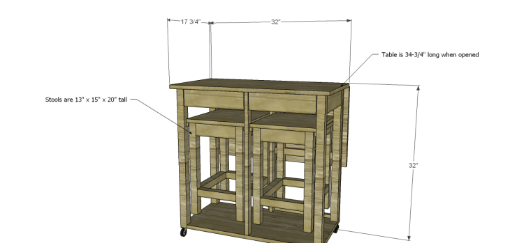Plans to Build a Space Saving Table and Stools