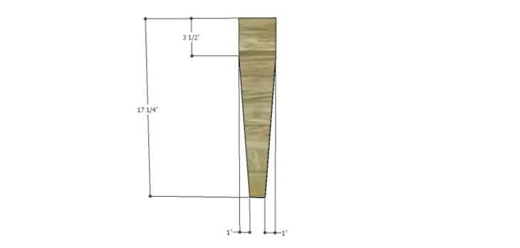 DIY 2x4 Bench Plans-Legs