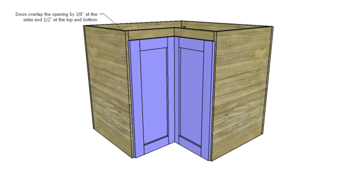 Corner Kitchen Cabinet Plans-Lower Doors 3