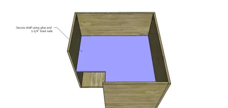 Corner Kitchen Cabinet Plans-Lower Shelf