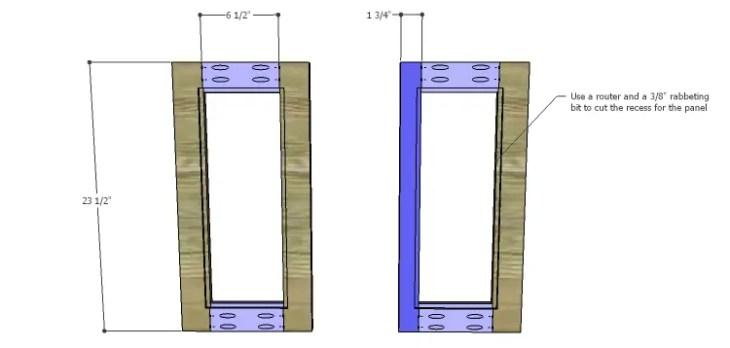 Corner Kitchen Cabinet Plans-Upper Doors 1