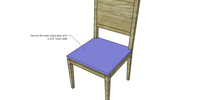 Luna Dining Chair Plans-Seat 2