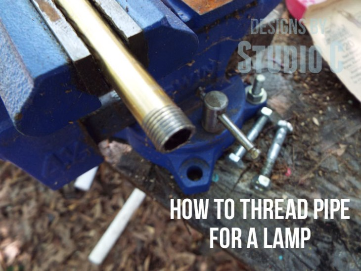 How to Thread Pipe for a Lamp