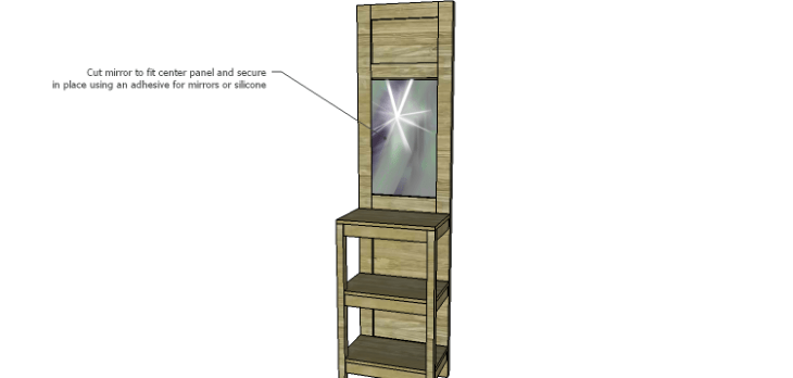 Plans to Build a Table using an Old Door-Mirror