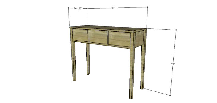Miriam Console Table Plans
