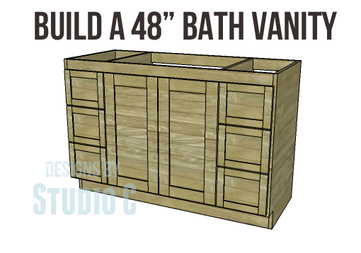 build a 48 u2033 bath vanity rh designsbystudioc com bathroom vanity cabinet plans free Bathroom Vanity Plans Designs