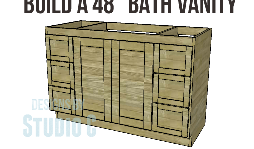 diy woodworking plans to build a 48 bath vanity - Bathroom Vanity Plans