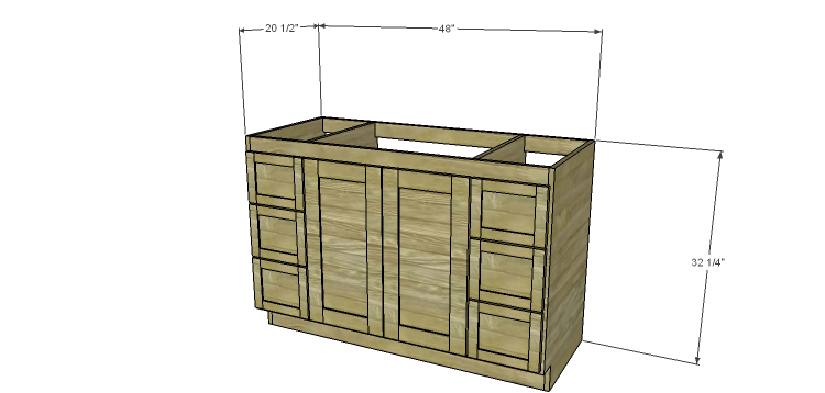Modern Bathroom Vanity Building Plans build a 48″ bath vanity – designsstudio c