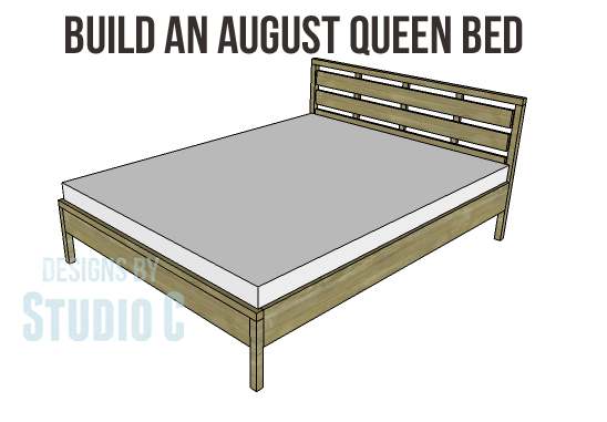DIY Plans to Build an August Queen Bed-Copy