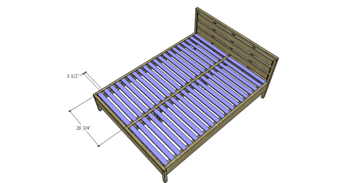 DIY Plans to Build an August Queen Bed-Slats