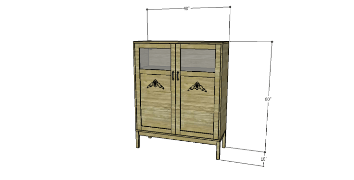 DIY Vintage Pantry Cabinet Plans