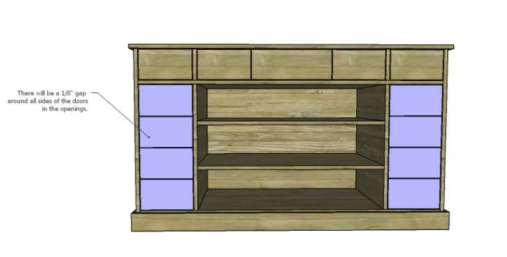 DIY Plans to Build a Kemper Media Console-Doors 2