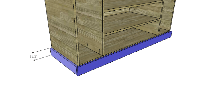 DIY Plans to Build a Kemper Media Console-Lower Trim