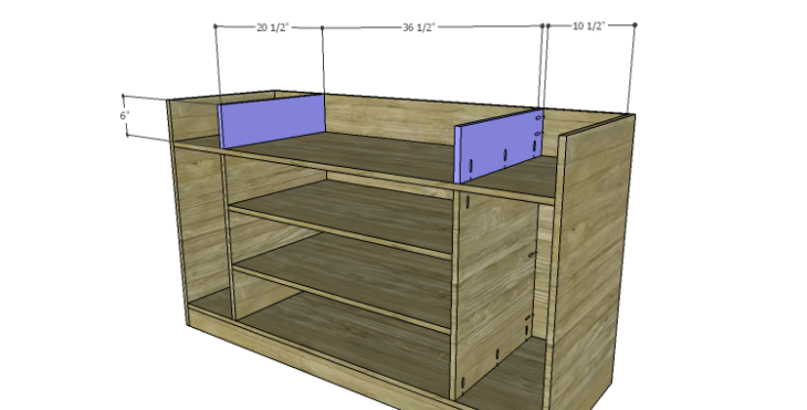 DIY Plans to Build a Kemper Media Console-Upper Dividers