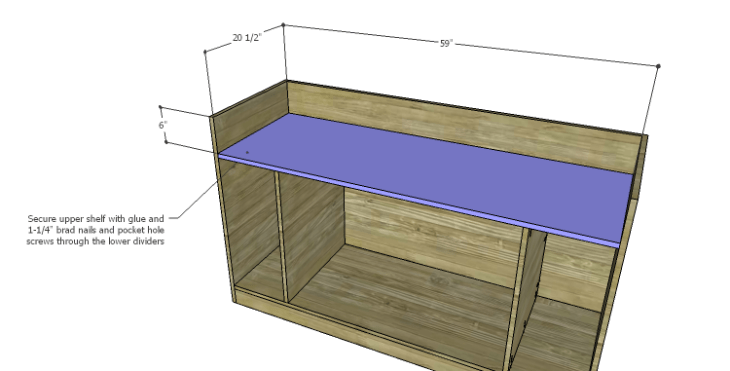 DIY Plans to Build a Kemper Media Console-Upper Shelf
