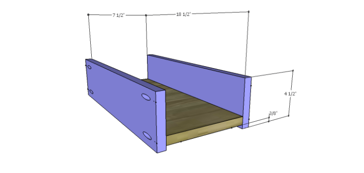 DIY Landon Desk Plans-Drawer BS