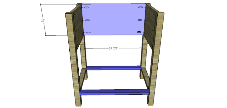 Presley 5-Drawer Table Plans-Back & Lower Stretchers