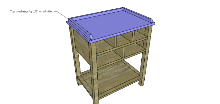 Presley 5-Drawer Table Plans-Top 2