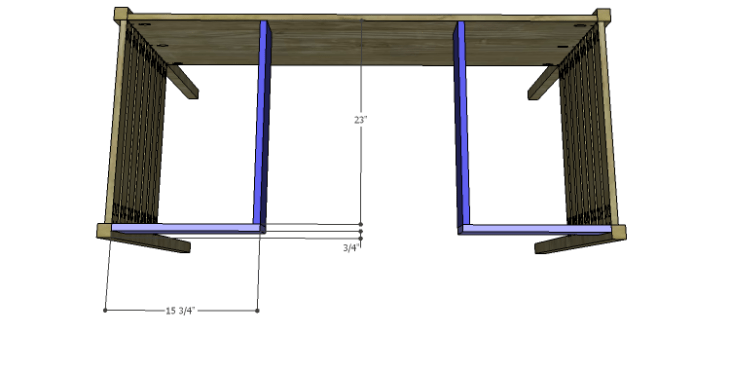 DIY Plans to Build a Mesa Desk-Apron & Supports