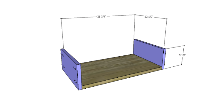 DIY Plans to Build a Spring Rose Dresser-Sm Drawer BS