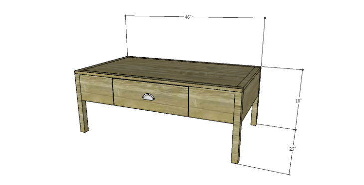 DIY Plans to Build a Morgan Coffee Table