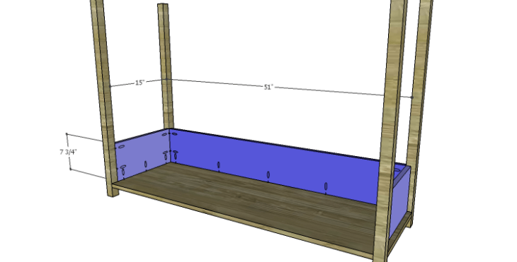 DIY Plans to Build an Edinburgh Console Table_Lower Sides & Back