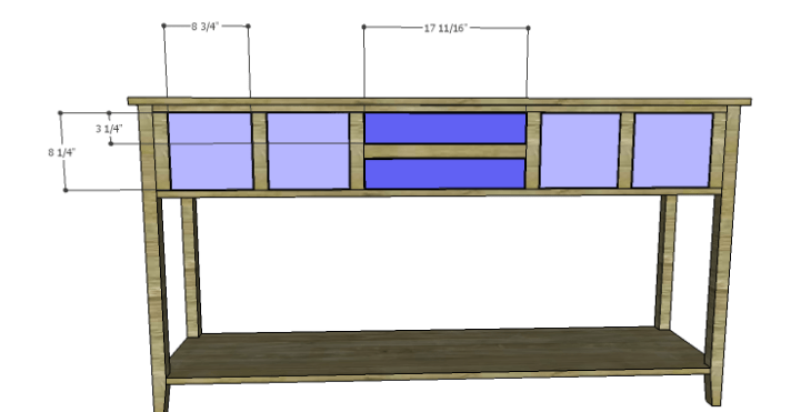 DIY Plans to Build a Tuscana Console Table_Drawer Fronts