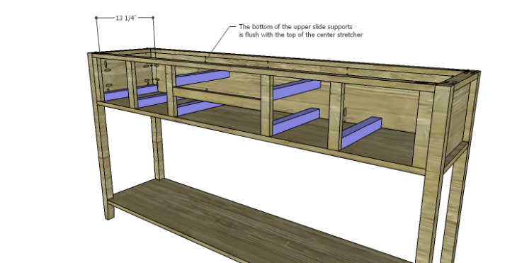 DIY Plans to Build a Tuscana Console Table_Drawer Slide Supports