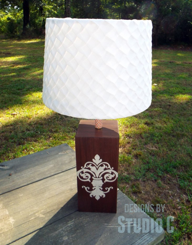 DIY Plans to Build a Lamp Base with Plywood_Finished