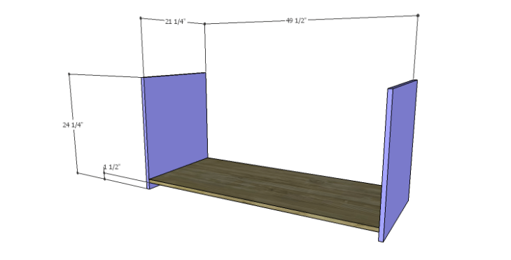 DIY Plans to Build a Piedmont Media Console_Sides & Bottom