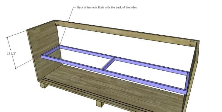 DIY Plans to Build a Slat-Door Sideboard_Shelf Frame 2