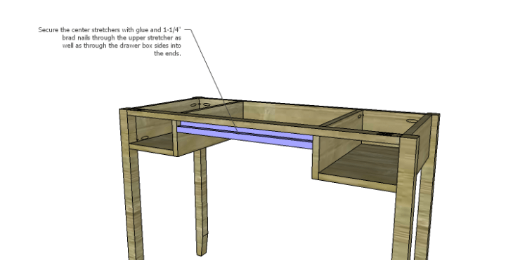 DIY Plans to Build a Magnolia Vanity Table_Center Stretcher 2