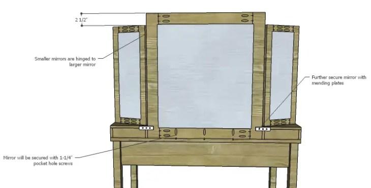 DIY Plans to Build a Magnolia Vanity Table_Mirror 3
