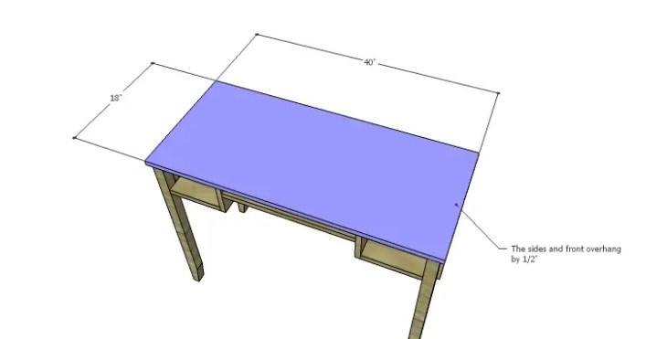DIY Plans to Build a Magnolia Vanity Table_Top