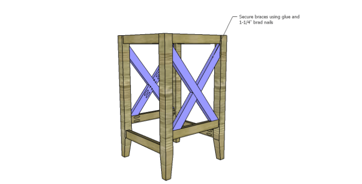 DIY Plans to Build a McKenzie Bar Stool_X Braces 3